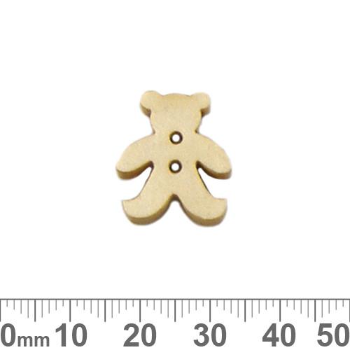 Teddy Bear Honey Wooden Buttons