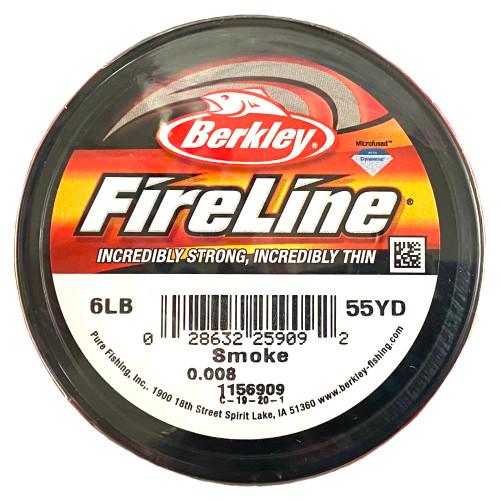 6lb Smoke Grey Fireline Cord - 55 yards