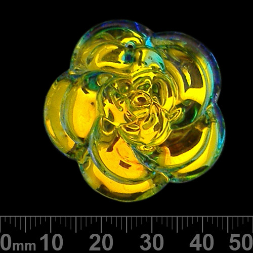 Clear AB Glass Rose Pendant