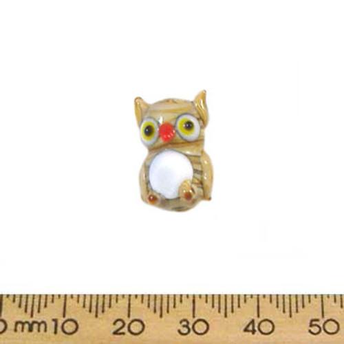 Brown Owl Glass Bead