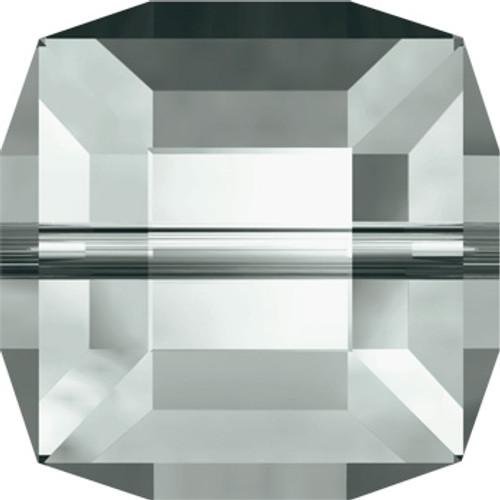 8mm Black Diamond Swarovski Cube Beads