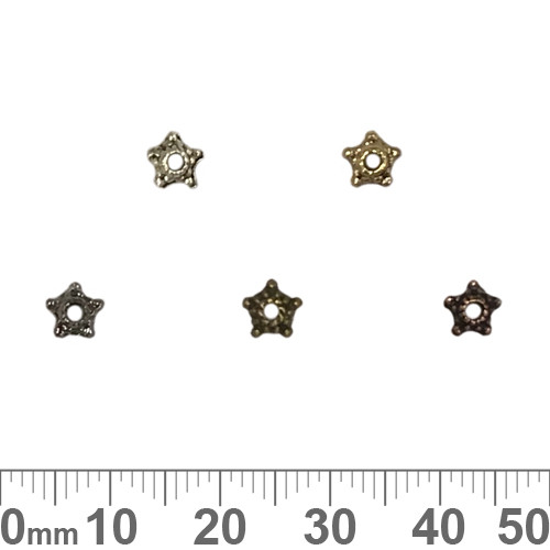 BULK Small Star Bead Caps