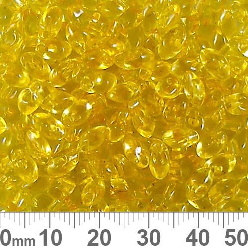 Transparent Light Topaz Long Magatama Beads