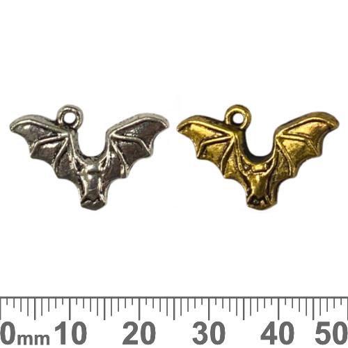 BULK Bat Metal Charms