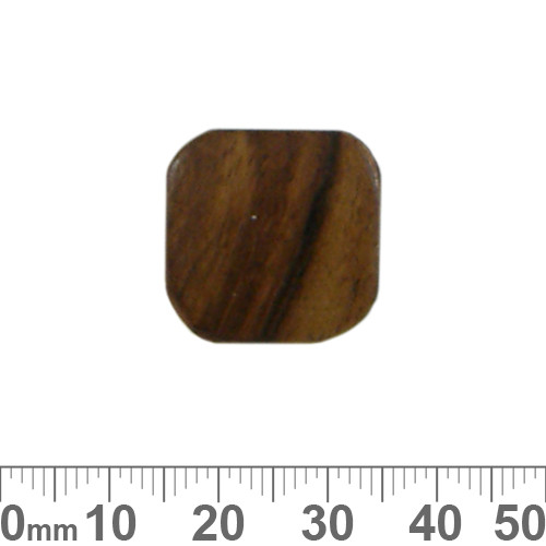 Flat Square Brown Wooden Beads