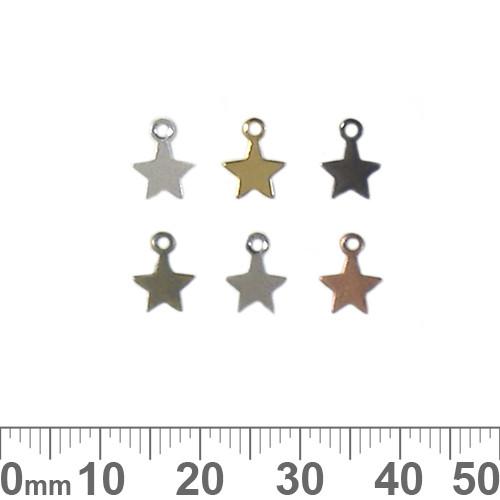 BULK Small Star Metal Charms