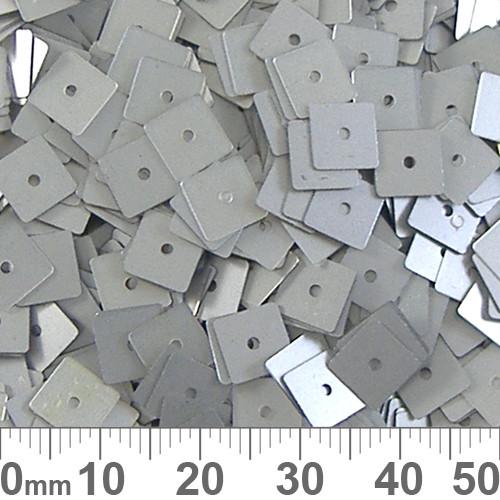 6mm Square Light Grey Sequins