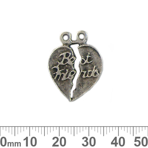 Best Friends Double Metal Charms