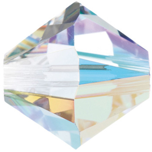 4mm Crystal AB Swarovski® Bicone Factory Pack