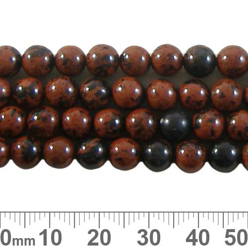 Mahogany Obsidian 6mm Round Beads