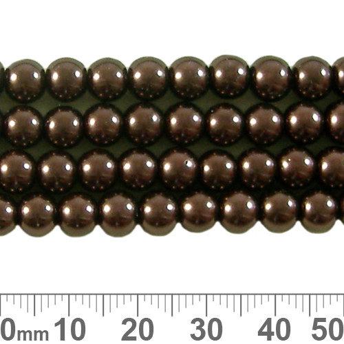 CLEARANCE 6mm Copper Glass Pearl Strands