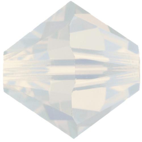 8mm White Opal Swarovski® Bicone