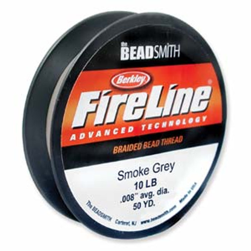 10lb Smoke Grey Fireline Cord - 50 yards