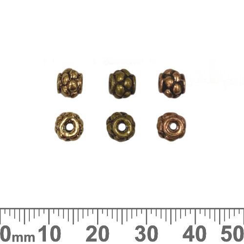 Dotted Ball Metal Beads
