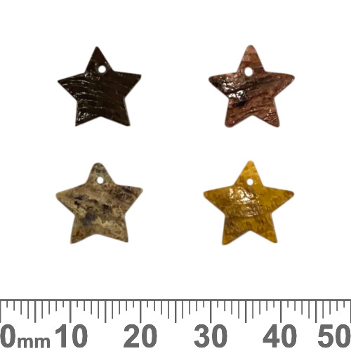 Small Shell Star Charms