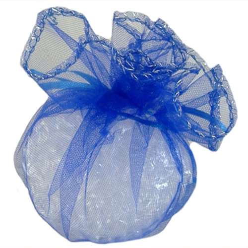 BULK Dark Blue Small Organza Drawstring Pouches