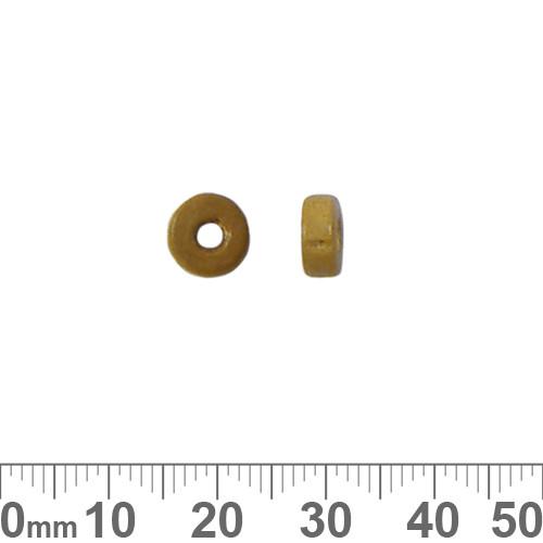 Dark Honey Wooden Flat Disc Beads