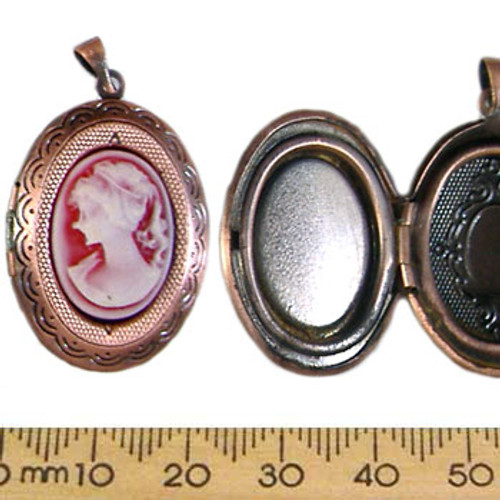 Copper/Red Cameo Locket