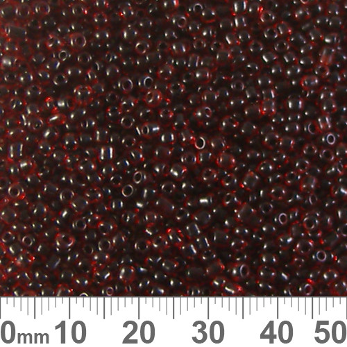 11/0 Dark Red Lined Seed Beads
