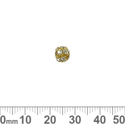 6mm Sparkly Diamante Metal Ball