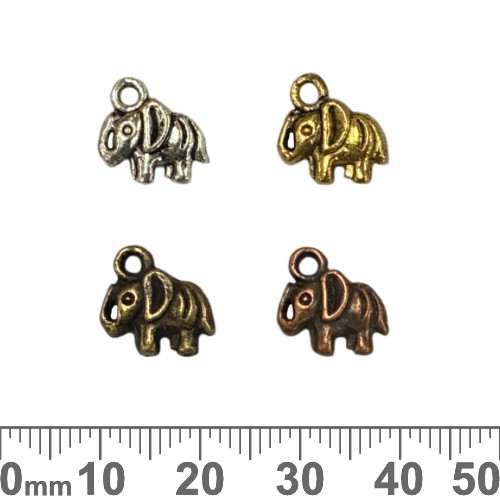 Elephant Metal Charms