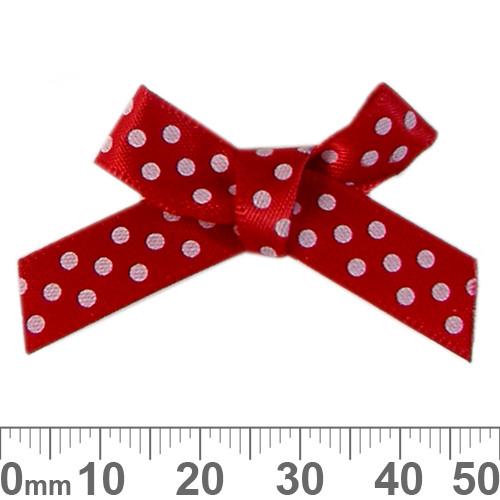BULK 50mm Red/White Polka Dot Ribbon Bows