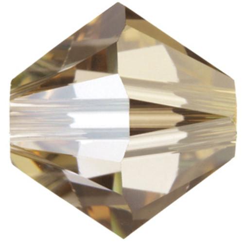 6mm Crystal Golden Shadow Swarovski® Bicone