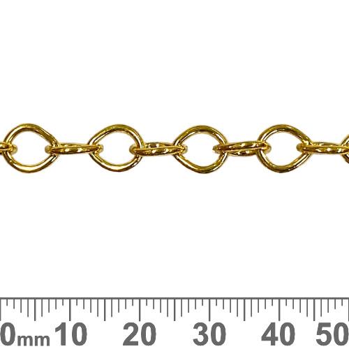 Bright Gold 8.5mm Tear Drop Loop Chain