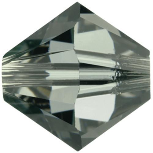 6mm Black Diamond Swarovski® Bicone