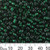6/0 Dark Green S/L Seed Beads