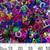 6mm Mixed Colours Plastic Alphabet Letter Confetti