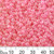 8/0 Pink Lustre Seed Beads