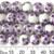 10mm Round Purple Sakura Ceramic Bead Strands