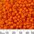 6/0 Opaque Orange Seed Beads