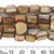 10mm Pale Brown Cube Shell Bead Strands