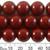 14mm Dark Cherry Glass Bead Strands