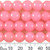 10mm Round Pastel Pink Glass Bead Strands