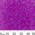 11/0 I/C Dyed Light Fuchsia AB Delica Seed Beads