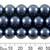12mm Dark Blue Glass Pearl Strands