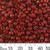 6/0 Opaque Dark Red Seed Beads