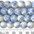 10mm Round Blue Sakura Ceramic Bead Strands