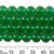 Dyed Green Chalcedony 8mm Round Beads