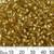 Gold 2 Cut Glass Bugle Beads