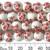 10mm Round Red Sakura Ceramic Bead Strands