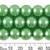 CLEARANCE 12mm Medium Green Glass Pearl Strands