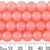 CLEARANCE BULK 10 x 10mm Round Pastel Coral Glass Bead Strands