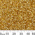 11/0 Gold S/L Chinese A-Grade Tube Seed Beads
