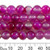 Pink Dyed Agate 8mm Round Beads