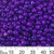 6/0 Opaque Dark Grape Glass Seed Beads