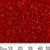 11/0 S/L Dyed Red Delica Seed Beads